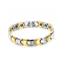 2018 new rose gold plated tungsten steel magnetic health bracelets