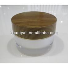 2g 5g 10g 15g 30g 50g 100g doble pared acrílico de madera cosméticos jarra
