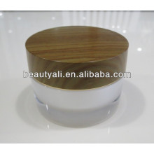 2g 5g 10g 15g 30g 50g 100g Double Wall Acrylic Wooden Jar