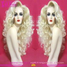100 % cheveux brésiliens non transformés #60 couleur perruque gros blonde plein lacet perruque nouvelle tendance blonde perruque de cheveux humains pour femmes blanches