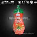 juice packaging plastic bag with spout pouch