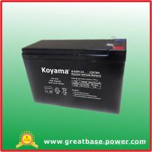 Bateria elétrica de 12V 7ah para o veículo