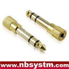 3,5-Buchse auf 6,5-Stecker-Mikrofon-Adapter, 6,5-mm-Stecker auf 3,5 mm Klinke Audio-Adapter Metall