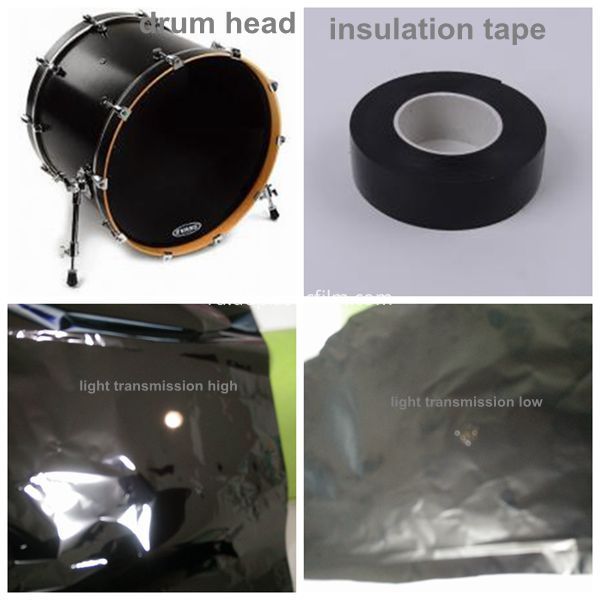 PET black film application