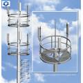 Poste de aço elétrico monopolo de telecomunicação galvanizado