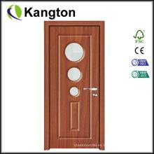 Mdfbathroom PVC plástico interior de la puerta perfil de la puerta (puerta de PVC)