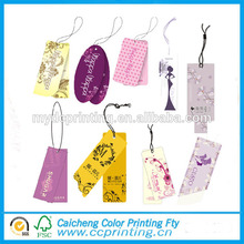Etiqueta de ropa de papel de diseño de etiqueta de arte personalizada etiqueta de equipaje impresa