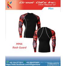 Customized design rash guard, custom printed rash guard, mma rashguards