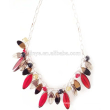 Fashion Crystal Pendant Statement Chain Necklace