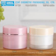WJ-A250 250g capas dobles respetuoso cuidado de la piel/pelo cuidado crema/mascarilla buena calidad cilindro redondo pp crema tarro 250ml