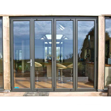 Australian standard windows and doors double glass modern designs aluminum folding doors exterior