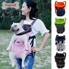 Doglemi Chest avant extérieure Mesh Pet Dog Cat Carrier sac à dos