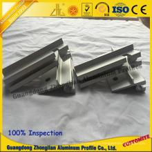 Perfil de aluminio Furnitur para perfil de puerta vertical con bisagras de perfil de puerta