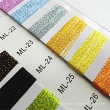 Custom Colorful reflect brilliant light bright ML Type lurex Metallic Yarn For Knitting