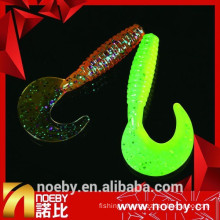 7cm grub lure sea bass lures plastic fishing grubs