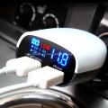 Cargador del USB del puerto dual de la exhibición LED 5V3.4A