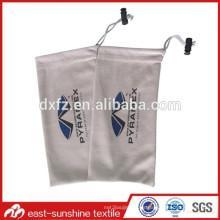Microfiber ante, bolsos de las gafas de sol del microfiber del ante, bolsos de la impresión de encargo de la microfibra de la limpieza de los vidrios