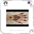 Etiqueta engomada india del tatuaje de la plantilla de la alheña, diseño de moda y alta calidad con precio bajo