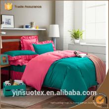 Роскошный яркий цвет 100% полиэстер печатные оптовые одеяла наборы постельные принадлежности