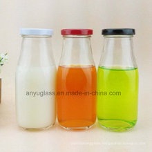 Glass Bottles for Milk, Beverage, Water Juice with Decal