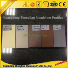 Profil en aluminium coloré électrophorétique pour la décoration coulissante de fenêtre et de porte