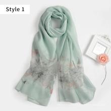 2017 nueva bufanda bordada a mano de la pluma de la mezcla viscosa de seda