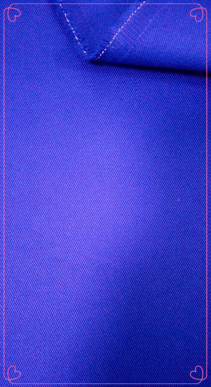 Dyed Cotton Twill Fabric 40/2x16 235Gsm