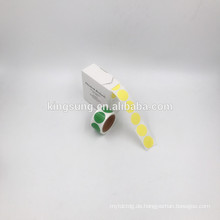 billiger Papier einfarbig Aufkleber 1/2 Zoll / 1 Zoll / 2 Zoll rund