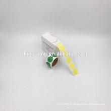 autocollant de couleur unie papier moins cher 1/2 pouce / 1 pouce / 2 pouces rond
