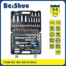 "94PCS 1/2""&1/4"" Drive Socket Set for Car Repairing"