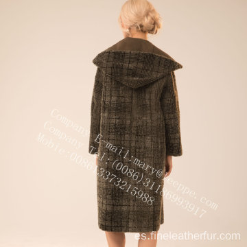 Reversible Winter Women Spain Merino Shearling Coat