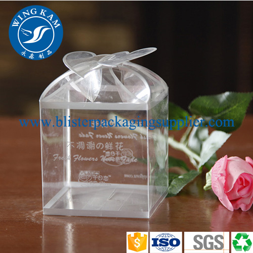 New Design Small Clear Plastic Cake Box Printed