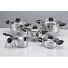 10-Piece Kitchenware /Cookware Set with Glass Lid