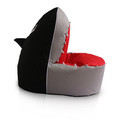 kids bean bag in shark shape in black