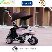 Anti tela 100% UV de Oxford 600d do poliéster para o carrinho de criança de bebê com revestimento do poliuretano