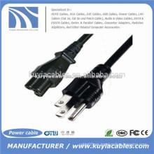 VENDEDOR CALIENTE 3pin US Cable del CABLE de la energía de la computadora del OEM