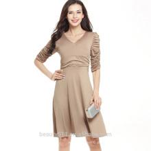 Mulheres vestido de renda de manga curta senhorita lápis vestido de noite de renda SD01