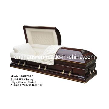 Caixão de madeira (ANA) para o produto de Funeral