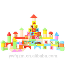 Nuevo diseño niños bloques de construcción de madera juguetes