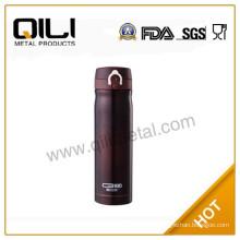 Black vacuum stainless steel travel bottle