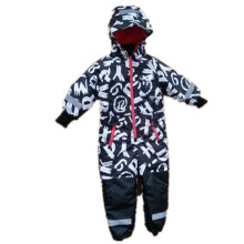 Letter Hooded Reflective Waterproof Jumpsuits/Overall/Raincoat for Baby/Children
