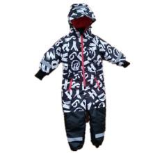 Carta con capucha impermeable reflectante overoles/general/impermeable para bebés y niños
