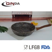 Poêle à frire en granit d'aluminium forgé sans induction