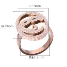 Женская мода из нержавеющей стали ювелирные изделия маска Матовый кольцо / ювелирные изделия