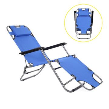 2018 Design relax folding garden chair portable camping outdoor metal folding lounge chair