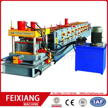 Full automatic steel purlin roll forming machine
