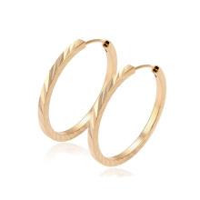 29361-Xuping Vente Chaude De Mode 18 K Or Plaqué Hoop Boucle D'oreille Pour Les Femmes