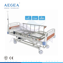 AG-BM106 three function electric adjustable medical bed with wheels