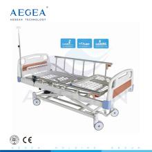 АГ-BM106 Центр-контролируемый фиксируя больничные колеса мебель три мотора кровать домашнего ухода медицинского назначения