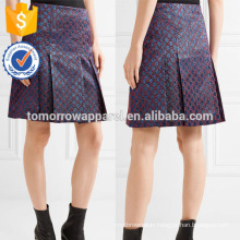 New Fashion Pleated Metallic Jacquard Summer Mini Daily Skirt DEM/DOM Manufacture Wholesale Fashion Women Apparel (TA5070S)